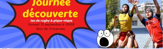 JOURNEE PORTES OUVERTES CHEZ LES GAILLARDS RUGBY CLUB PARIS LE 15 SEPTEMBRE